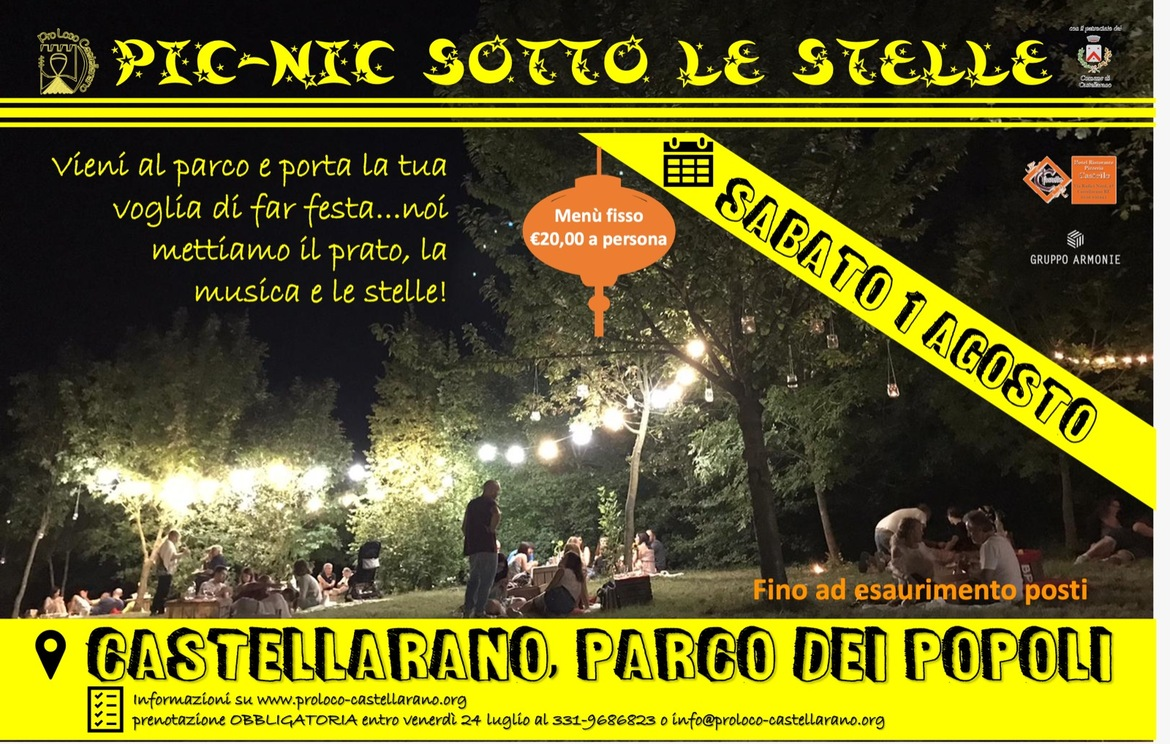 Pic Nic sotto le stelle 2020